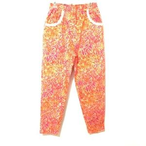 Lilly Pulitzer Vintage Pink/Yellow Tropical Pants